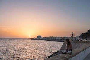 Sunset over Cadiz
