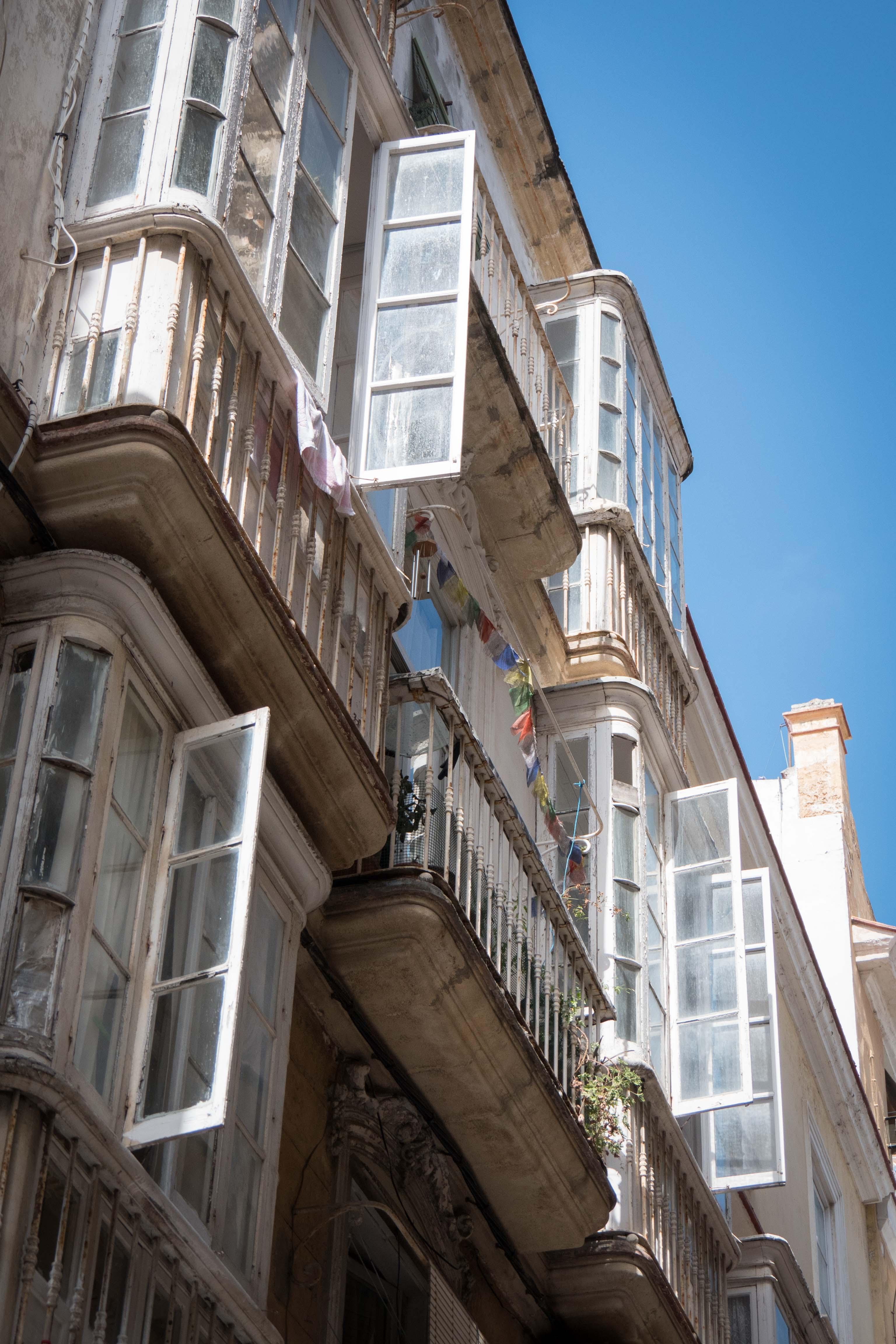 Windows and Prayer-flags,Cadiz